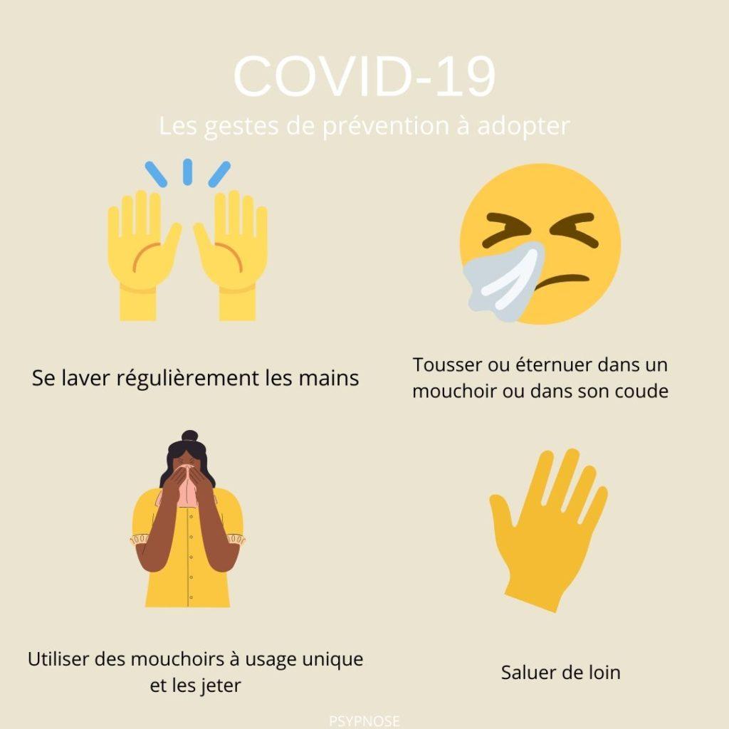 Covid-19 les gestes de prévention à adopter